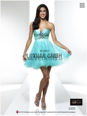 9447731143b Společenské šaty Dianthe - tylové koktejlky barva mentolová